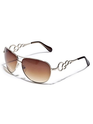 G by GUESS Women's Metal Rim Aviator - Sunglasses Aviator Logo