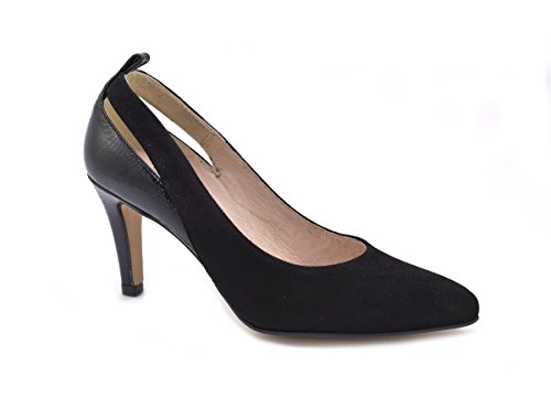 Negro serraje Zapato Almudena vestir Conbuenpie mujer by color piel fw8qExB4