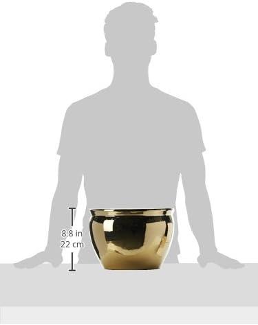 Oriental Furniture 12 Solid Gold Porcelain Fishbowl