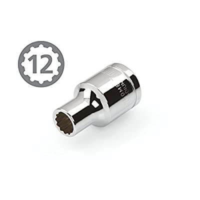 TEKTON 14163 3/8-Inch Drive by 7 mm Shallow Socket, Cr-V, 12-Point: Home Improvement