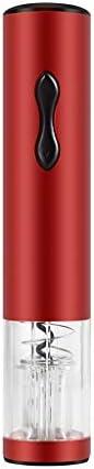 YIFEI2013-SHOP Sacacorchos Abrebotellas eléctrico Automático Abrebotellas Espiral automático, Abrebotellas Visible Vino Abierto, Acero Inoxidable Abrebotella (Color : Red)