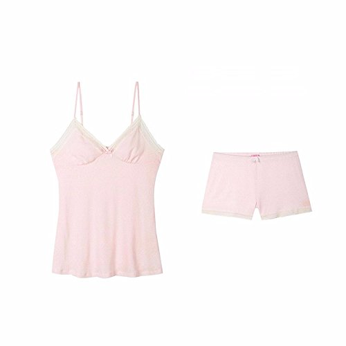 0bf81f77fde SDKIR-The fall of the solid color wild sweet girl pajamas lace decorated  bra kit