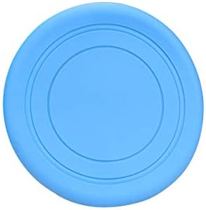 July miracle Rubber Frisbees About 17.5cm Frisbee Flying Disc for Outdoor Sport Dog Toy(Blue)