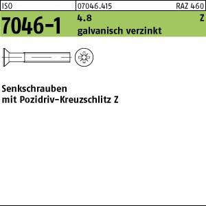 Z verzinkt M5x16 1000 Krz Senkkopfschrauben ISO 7046-1 4.8