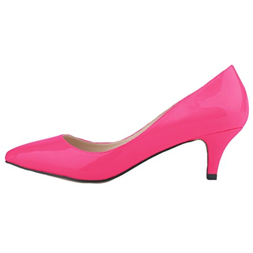 Pointue Talons Work Shallow Low Heel Femme Mouth Chaussures Elegant Chaussures Ladies WanYang Rose Bureau Femmes WvH7qng