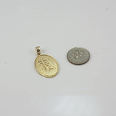 10K Yellow Gold Chinese Health Symbol Necklace