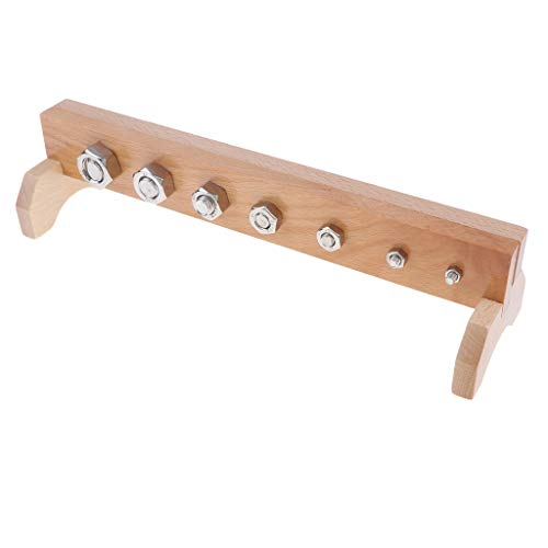 Fenteer Wooden Montessori Teaching Aids for Kids Toddler Screw Bolts and Nuts Toy ()