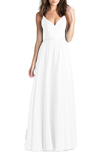 Bridal Spaghetti Strap Bridesmaid Dress - 3