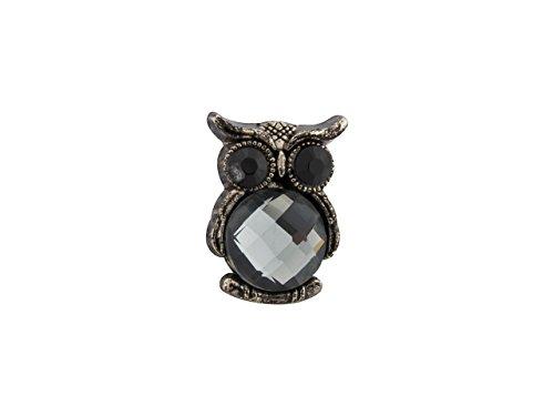 Knighthood Men's Cute Owl Bird with Big Black Eyes Lapel Pin/Brooch Black