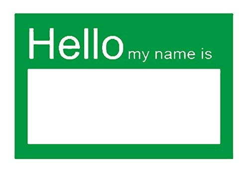 (SMAR 2 X 3 inch Hello My Name is Stickers / Badges / Name Tag Labels Great for Kids, School, Employees, Reunions, Professionals, Parties, Events(Green / Pack of 200) (Green))