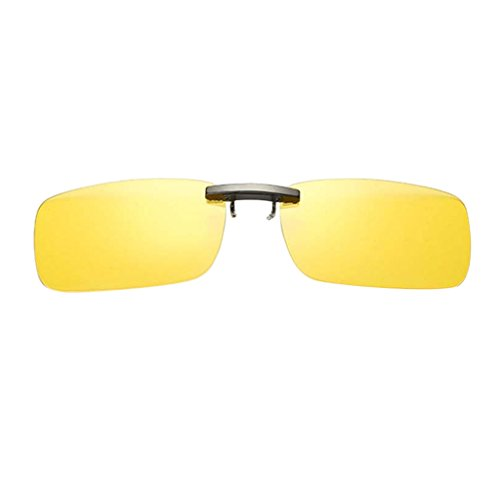 UV400 Polarizadas Conducción Sol Mujer con amarillo Deporte Miopía de Clip Baoblaze Hombre Anteojos para de Gafas Viaje UIRwP8