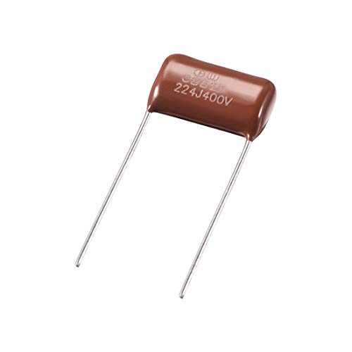 uxcell CBB21 Metallized Polypropylene Film Capacitors 400V 0.22uF for Electric Circuits Energy Saving Lamps Pack of 20