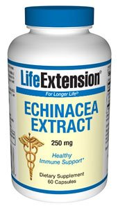 Life Extension Echinacea Extract 250mg Capsules, 60-Count