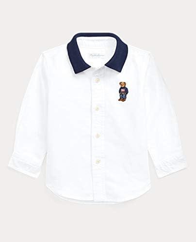 White Ralph Lauren Baby-Boy Cotton Oxford Shirt