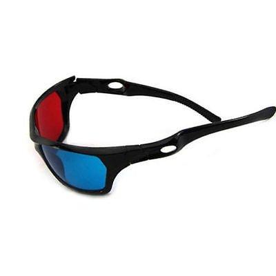 Red Blue Plasma TV Movie Dimensional Anaglyph Framed 3D Vision Glasses
