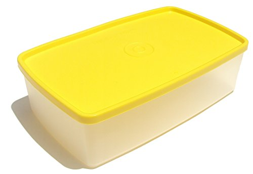 Vintage Style Tupperware Pak N Stor Rectangular Container Yellow Seal