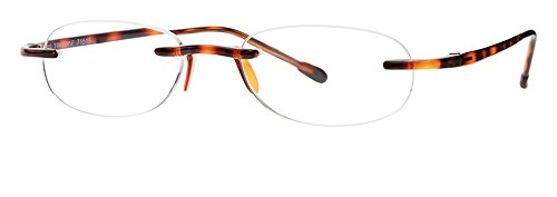 Gels - Lightweight Rimless Fashion Readers - The Original Reading Glasses for Men and Women - Tortoise (+1.50 Magnification Power) by Scojo New York (Image #2)
