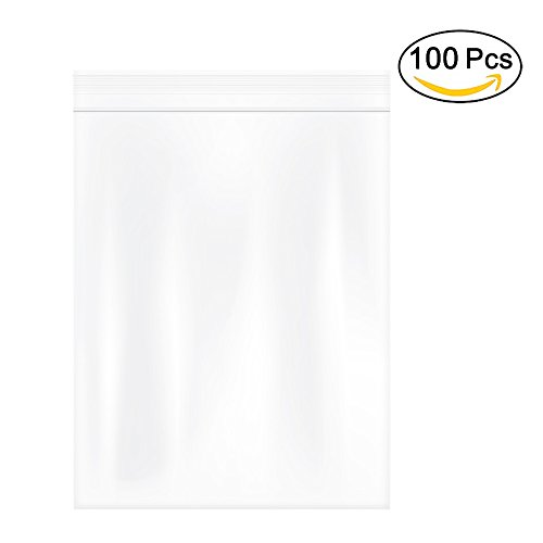Herodada 12'' x 15'' 100pcs Heavy Duty Resealable Plastic Bag Reclosable Zip bags, Clear, 4Mil by Herodada
