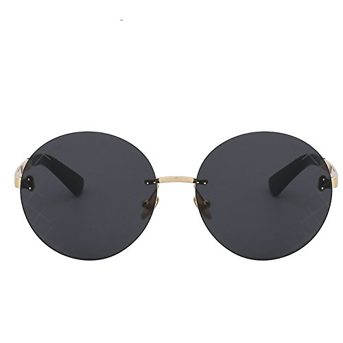 b603d85c85 TIANLIANG04 - Gafas de sol redondas para mujer, montura sin bordes, lentes  de espejo