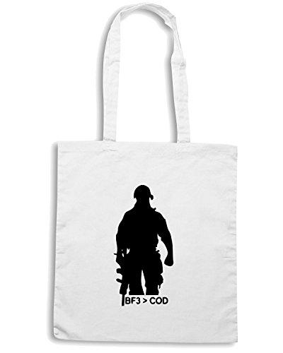 T-Shirtshock - Bolsa para la compra TM0502 bf3 cod Blanco