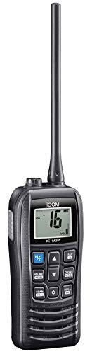 Icom M37 6Wts. VHF Float'n Flash and 12 Hours of Operation