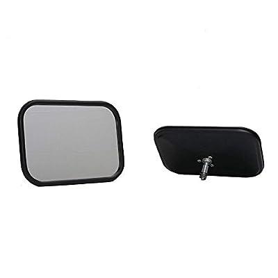 Motobiker 1Pair Shake-Proof Off-Road Rectangular Adventure Mirrors, Bolt-on Door Hinge Mirror Fits All Jeep Wrangler JK CJ YJ TJ -Black: Automotive