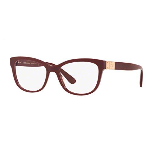 Dolce   Gabbana - Monture de lunettes - Femme Violet bordeaux 54 1d9ea3efc468
