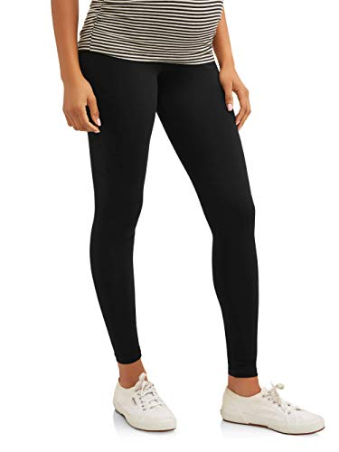RUMOR HAS IT Maternity Over The Belly Super Soft Support Leggings (X Large, Black)
