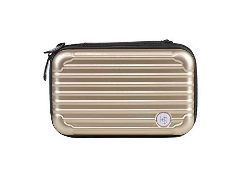 SOMEWHERE HAUTE Mini Hard Shell Cosmetic Case (Gold) (Wd My Passport Essential Se 1tb Not Recognized)