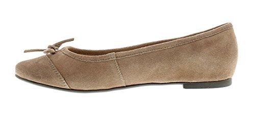 NUEVO mujer color topo Hush Puppies ALINA Grace ANTIDESLIZAMIENTO Pantuflas Zapatos - COLOR TOPO - GB Tallas 3-8