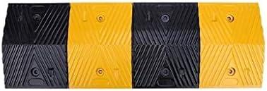高速道路ダウンヒル減速ゾーン、黄色と黒の目を引くカースロープゴムウェアラブルサービススロープサイズ:100 * 25 * 4CM 段差プレート・スロープ (Size : 100*35*4CM)