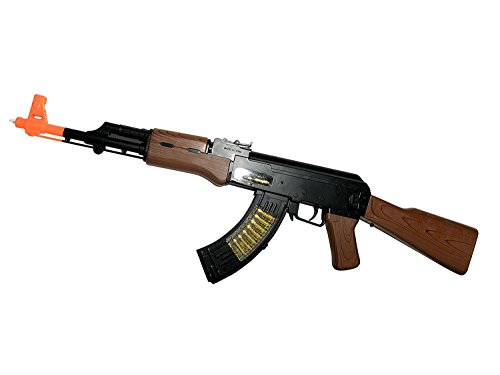 Fun Toy Special Forces AK-47 Battery Operated 27 INCH Aug 77 Toy Gun For Children, Rotating Bullets, Lights, Firing Sounds, Bayonet, Moving Muzzle, Bi-pod,. Toy Guns for Kids. by AJ Toys & Games