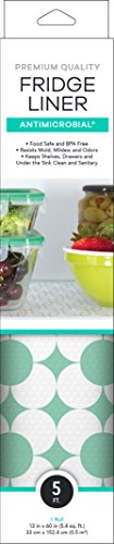 (Mindfull Products Minfull Antimicrobial Fridge Shelf Liner, BPA Free, 13