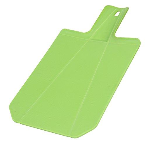 Home Basics Foldable Plastic Cutting Chopping Board with Non-Slip Feet, Green (Chop To Pot Cutting Board)