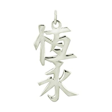 Amazon Jewelry Adviser Chinese Kanji Symbols Sterling Silver