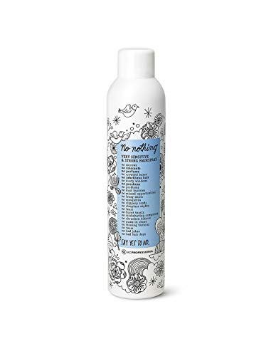 No nothing Very Sensitive Strong Hairspray - Fragrance Free Strong Styling and Finishing Spray, Hypoallergenic, Unscented Hair Spray 10.15 oz - KC Professional ()
