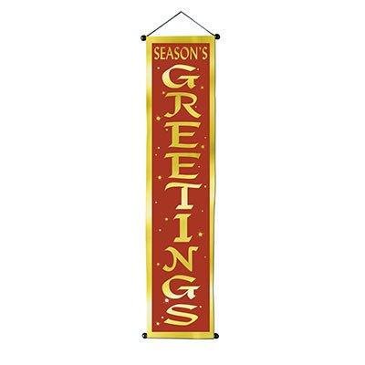 Beistle Seasons Greetings Velvet-Lame Door Panel, 12 1/4 by 48 1/2-Inch, ()