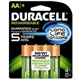 (Duracell Rechargeable Long Life AA-4 Nimh 4pack 2500/mAh )