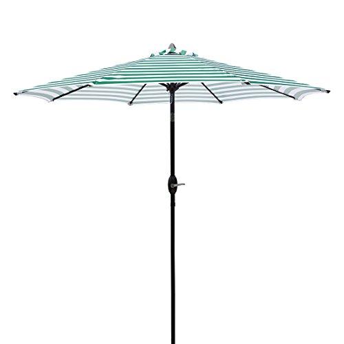 Masvis 9 Ft Aluminum Patio Umbrella Outdoor Table Market Umbrellas with Push Button Tilt and Cra ...