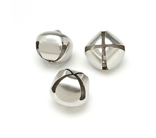Jingle Bells 1 Inch 36 Pack Silver
