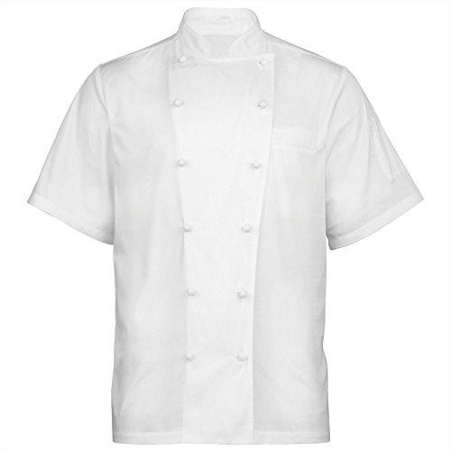 Premier ambassador Short Sleeve Chefs Jacket - White - S (Premier Cotton Jacket)