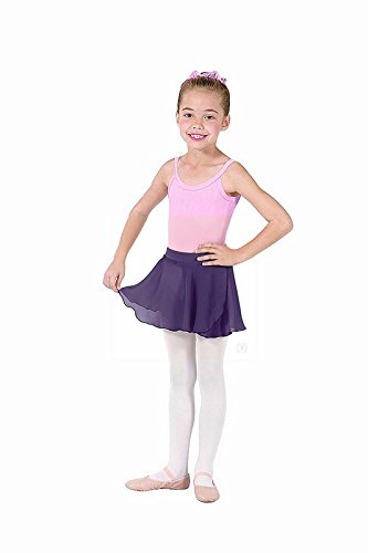 Eurotard Girls Mock Wrap Skirt (White, X-Small) - 10127
