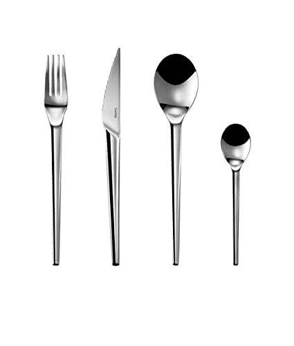 Castey Y1-B - Juego de 4 tenedores de mesa, 4 cuchillos de ...