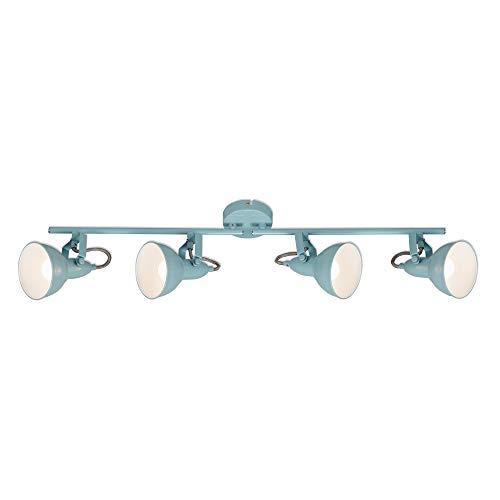 Briloner Leuchten – Plafondlamp, spotlamp 4 spots, draai- en zwenkbaar, retro/vintage, 4 x E14, 40 watt, metaal, mint…