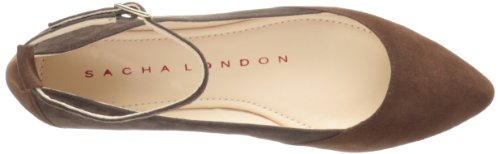 Ballet Sacha London Mujeres Blossom Flat Marrón / Marrón Oscuro Gamuza Niño