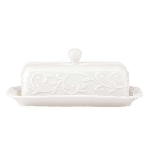Lenox Opal Innocence Carved Butter Dish, -