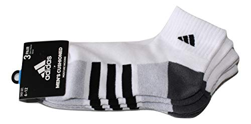 - Adidas Men's 3-Pack Climalite Quarter Performance Socks (WHITE), Large
