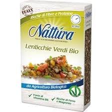 Lentejas verdes orgánicas Nattura ricas en fibra y proteína Fuente de vitamina B6 rica en hierro