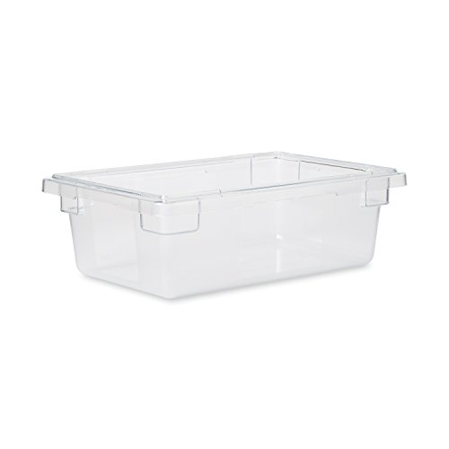 Rubbermaid Commercial Products Food Storage Box/Tote for Restaurant/Kitchen/Cafeteria, 3.5 Gallon, Clear (FG330900CLR) ()