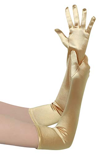 BABEYOND Long Opera Party 20s Satin Gloves Stretchy